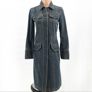 Gap Denim Long Jean Jacket Coat Dress
